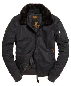 Superdry Winter Flite Jacket Dark Grey