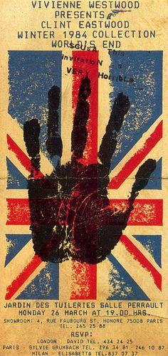 Vivienne Westwood fashion My favorite brand love eccentric style like… 80s And 90s Fashion, Punk Fashion, Eccentric Style, New Wave, Vintage Ephemera, Union Jack, Graphic Design Illustration, Vivienne Westwood, Posters