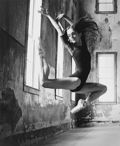 Portrait of a ballerina at the Old Pen in Boise. Image by Mike Reid, Boise photographer.