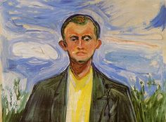 Edvard Munch, Self-Portrait in front of Blue Sky, 1908