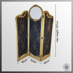 Antique Victorian Folding Screen | The Antique Gilt Screen Folding French Period Triple Fold Panel Room ...