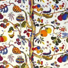 josef frank ipad background red/purple leaves with the same design ponted textures the colours
