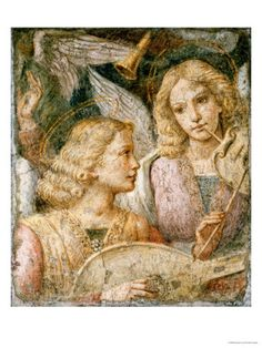 Music-Making Angels, a Fragment, by Bernardino Luini