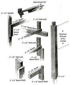 Wooden Scaffolding, Wooden Poles, Carpentry, Construction, Frame, Wall, Cleaning, Tools, Patterns