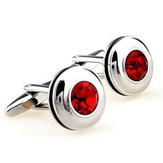 The Ruby 360 Stainless has beautiful ruby gem detail that sparkles when it catches the light. These ruby cufflinks belong in every man's closet. | How To Wear Cufflinks  #howmendress #menswear #mensfashio