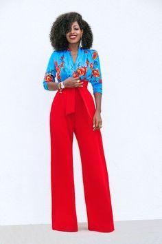 Floral Bodysuit + High Waist Belted Pants