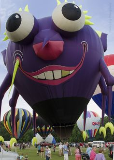 """Purple People Eater"" hot air balloon at the Alabama Jubilee Hot Air Balloon Classic, 2014 - photo by kevin33040, via Flickr"