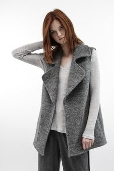 Oversize waistcoat in gray color - Systemaction