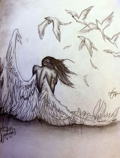 pencil drawings of angels and demons - Google Search                                                                                                                                                      More