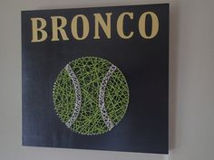 Tennis Ball String Art by RockfordRoots on Etsy