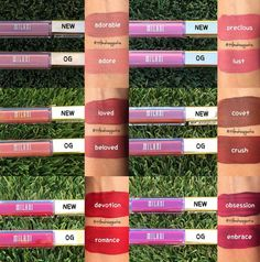 Milani Amore Matte Lip Crémes: Original Shades vs. New Shades