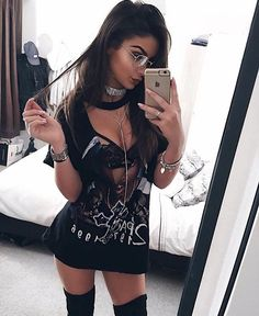 For Women club outfits – Wardrobe Land Edgy Outfits, Night Outfits, Grunge Outfits, Cool Outfits, Summer Outfits, Fashion Outfits, Ladies Fashion, Womens Fashion, Fashion Ideas