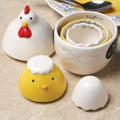 Amazon.com: CHICKEN MEASURING CUPS AND SPOONS: Kitchen & Dining