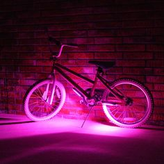 A fun and functional accessory, this LED bicycle safety light features four modes of control and is constructed of lightweight, durable ABS plastic!