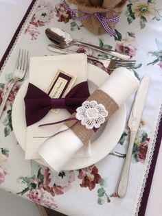 Purple napkin cuffs - classic and hessian types. Tag by Anna Treliving Textiles. Contact CliffsCushions@gmail.com Wedding Bunting, Hessian, Napkin Rings, Cuffs, Napkins, Anna, Gift Wrapping, Textiles, Decorations