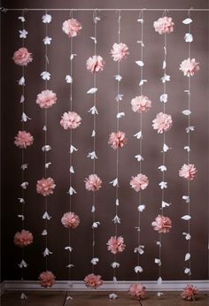 Paper Flower and Tissue Paper Puff Garland by KMHallbergDesign: