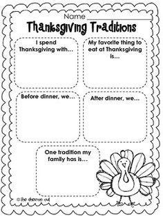 THANKSGIVING TRADITIONS FREEBIE - TeachersPayTeachers.com