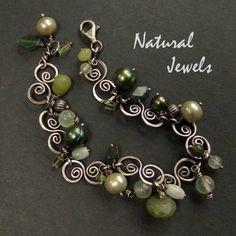 925 Sterling Silver Bracelet GREEN EMBRACE