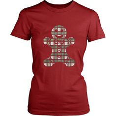 924e5fa50c3 Christmas Plaid Gingerbread Man Women s T-shirt – Fischer Fine Arts Plaid  Christmas