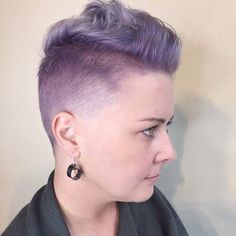 Long Top Short Sides Pastel Purple Hairstyle