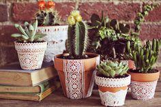 Decorative flower pots