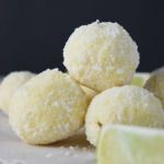 #Lime zest infused #white chocolate truffles rolled in coconut