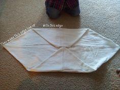 Mini Neat Fold -- Flat diaper fold
