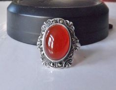 Old Art Deco Style Sterling Silver Ring by LittleBittreasures