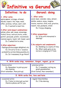 English teacher: Gerunds and Infinitives