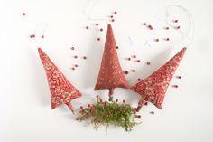 Décoration de Noël rouge sapins à suspendre : Accessoires de maison par sakamama