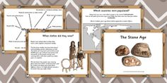 KS2 The Stone Age- Introduction to the Stone Age Powerpoint