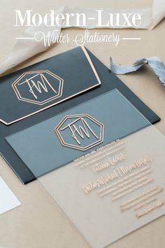 Modern-Luxe Winter Stationery | Lemiga Events