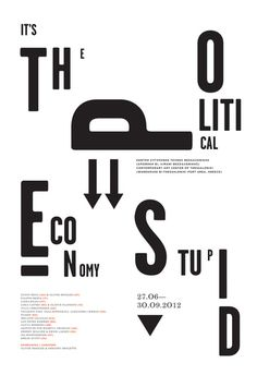 it s the political economy stupid poster by designers united