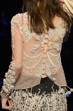 Detailed photos of Jean Paul Gaultier Haute Couture Spring 2016 Couture Details, Fashion Details, Love Fashion, Fashion Outfits, Fashion Design, Buzz Lightyear, Paul Gaultier Spring, Lesage, Embroidery Fashion