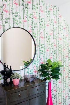 Milton and King Wallpaper // Flamingo Wallpaper