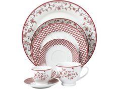 Aparelho de Jantar em Porcelana 42 Peças Casambiente Roma - Aparelhos Jantar 42 pçs ou mais - Magazine Luiza