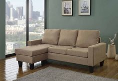 Modern Contemporary Upholstered Quality Sectional Left or Right Adjustable Sectional Sofa