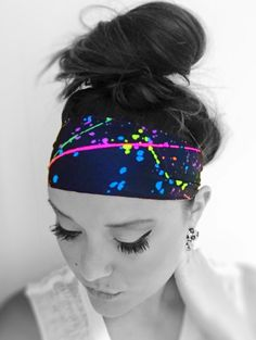 Hippie Runner Headband - STARBURST! Choose from hundreds of styles on sale now! Boho chic headbands for working out or going out! The nylon/spandex blend absorbs sweat and dries fast! Wear them wide or folded slightly for a different look!