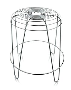 Low Chrome Plated Steel Stool By Pauline Deltour Archiproducts Furniture Design