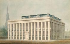 Astor Hotel- New York City circa 1830 Alexander J Davis.