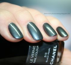 "Chanel ""Black Pearl"" Le Vernis Nail Colour. All-time fav!"