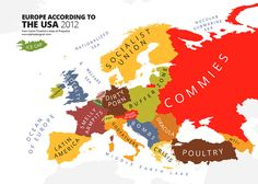 #Europe according to #US people    #map #funny #travel