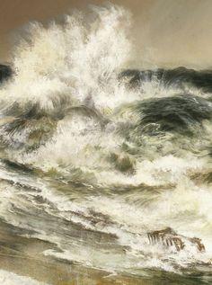 """slojnotak: """"Thomas Moran - The Much Resounding Sea (1884) """""""