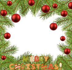 Christmas PNG Transparent Frame Border