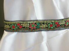 Handmade Belt,sash,cummerbund,waistband,zari,embroidered,rhinestone,Black