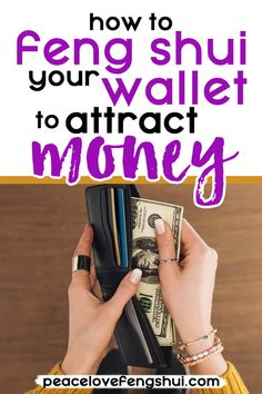 Have you ever wondered if it's possible to feng shui your wallet? Here are some quick and easy tips to help you feng shui your wallet and purse. Feng Shui And Money, How To Feng Shui Your Home, Feng Shui Wealth, Feng Shui Wallet Colour, Feng Shui Your Wallet, Feng Shui Rules, Feng Shui Tips, Feng Shui Symbols, Feng Shui Art