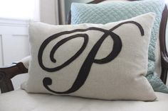 pillow tutorial - felt monogram pillow from the sweet survival