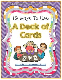 10 Ways to Use a Deck of Cards #ClassroomFreebies #Free