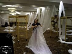 How to drape a room using a cloth you can get at your local co-op store