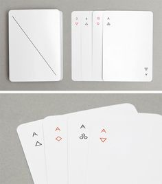 minimalist playing cards by Joe Ducet